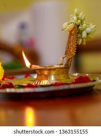 Hindu Traditional Brass  Lamp Godess Kamakshi