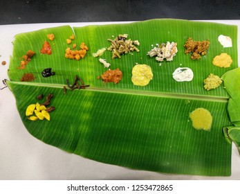 A hindu wedding feast/ sadhya.