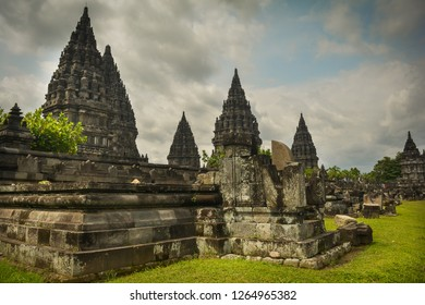 The hinduism temple in java island