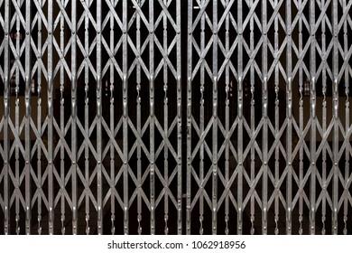 hinged metal door