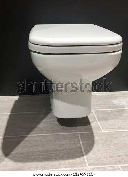Admirable Hinged Toilet Bowl Wcseat Cover Stock Image Download Now Machost Co Dining Chair Design Ideas Machostcouk