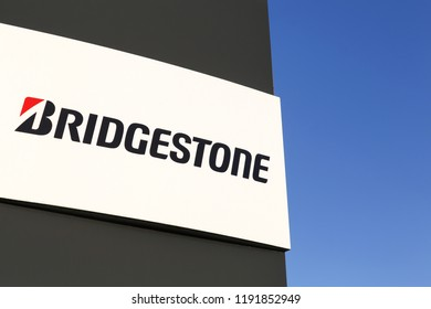 Hinnerup, Denmark - December 13, 2015: Bridgestone is a multinational auto and truck parts manufacturer founded in 1931 and also one of the largest manufacturer of tires in the world