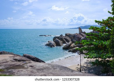 Hinta-Hinyai, Samui island View point at Surat Thani Province, Tropical beach seaside