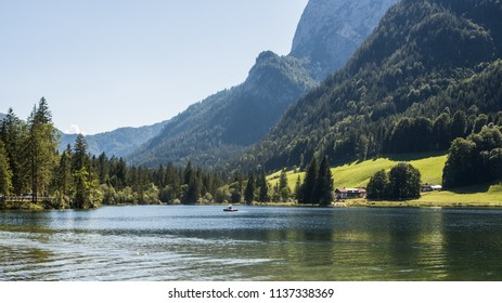 Hintersee in summer, Bavarian Alps Germany