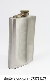 Hip flask isolated on white background