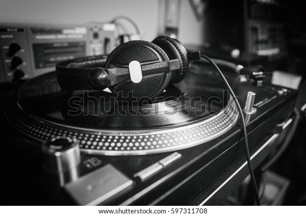 Hip Hop Dj Place Turntables Setup Stock Photo (Edit Now
