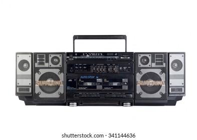 Hip hop surround sound radio isolated on white background
