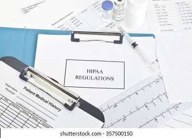 HIPAA regulations with patient documentation and medications.