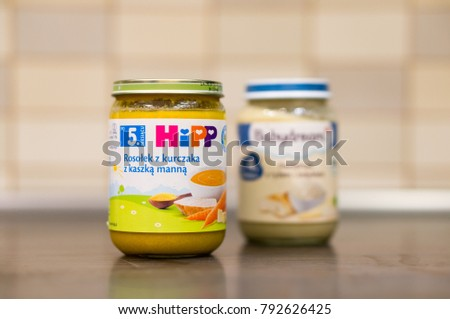 Hipp Chicken Soup Baby Food Glass Stock Photo Edit Now 792626425