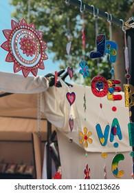 hippie decoration accessories, handmade, in hippie markets of Ibiza, Spain