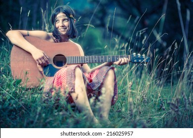 Hippy girl - 70s style