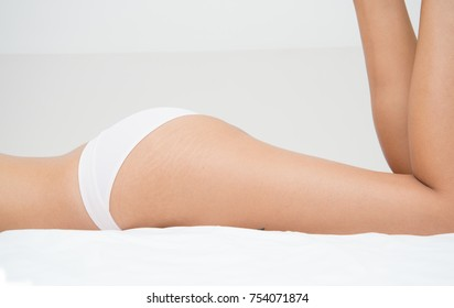 Hips and upper legs of a woman