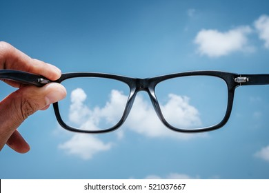 Hipster Hand Hold Glasses to the Sky