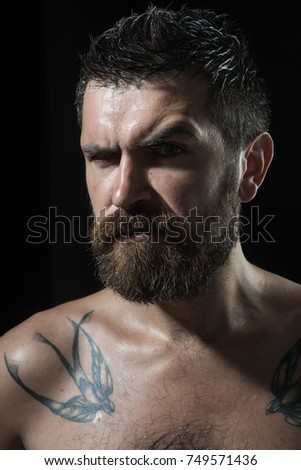 Serious face guy naked pic 950