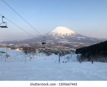 Hirafu and Mount Yotei, Hokkaido, Japan