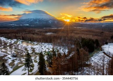 Hirafu, Niseko and Mount Yotei in Hokkaido, Japan