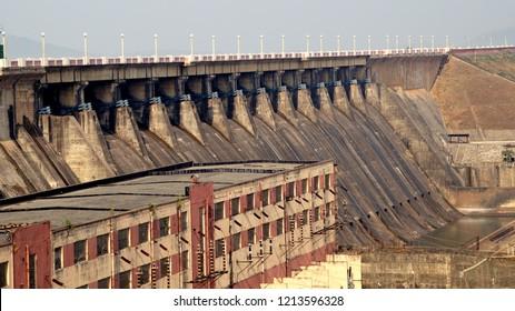 Hirakud Dam in Sambalpur