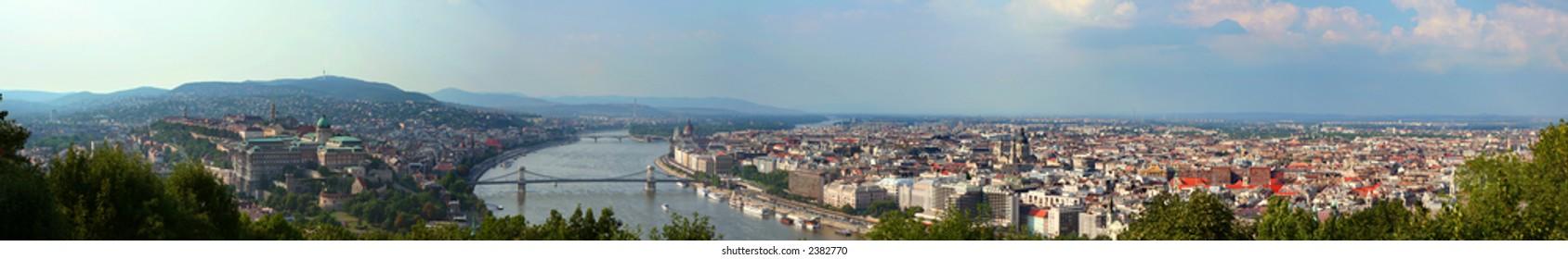Hi-resolution Budapest Panorama (Hungary)
