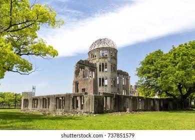 Hiroshima atomic bomb dome park in Japan