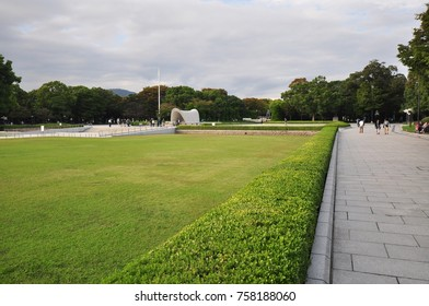 HIROSHIMA, JAPAN -13 OCTOBER 2017 - The Hiroshima Peace Memorial, a UNESCO World Heritage Site, dedicated to the memory of the atomic bomb in August 1945.