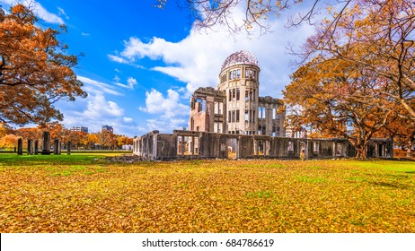 Hiroshima, Japan at the Atomic Bomb Dome in autumn.