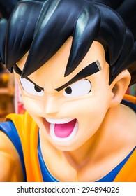 HIROSHIMA, JAPAN - MARCH 27: Dragon Ball model (Goku) on March 27, 2015 in Hiroshima, Japan. It is a Japanese manga series written and illustrated by Akira Toriyama.