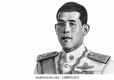 His Majesty King Maha Vajiralongkorn Bodindradebayavarangkun. reign 10th Rama 10. on Thai Baht  banknotes. Thai is the national currency of Thailand, Close Up UNC Uncirculated - Collection.