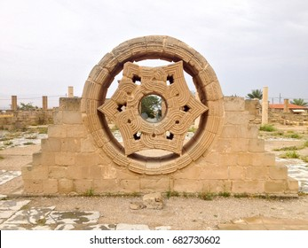 Hisham's Palace Stone Decoration in city of Jericho in Old city in Palestine, Israel