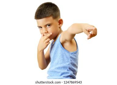 Hispanic child acting like a pop star.