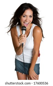 Hispanic Girl Singing