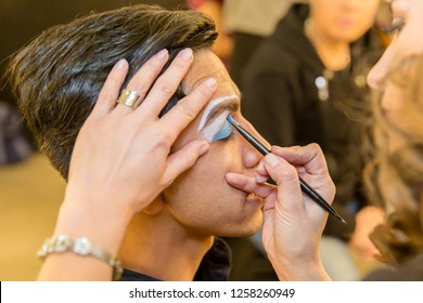 Hispanic (latin) male professional makeup