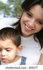 Hispanic Mom and son2