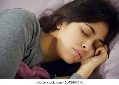 hispanic teenager feeling sick and sad unhappy