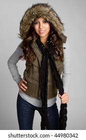 Hispanic Winter Girl