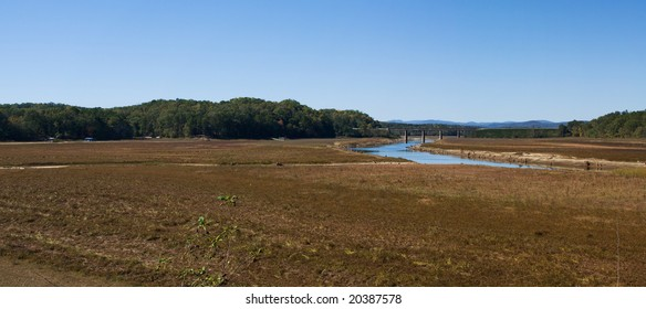 Historic 18 foot drought to the 56,000 Acre Lake Hartwell near Toccoa Georgia