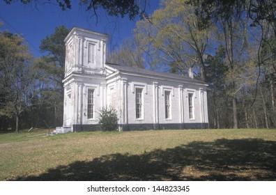 Historic 1826 Bethel Presbyterian Church in deep South of MS