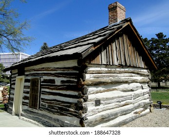Historic 1863 cabin was the first home built in Boise, Idaho and has been preserved as an Idaho landmark.