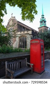 Historic All Hallows-by-the-Tower or St. Mary the Virgin or All Hallows Barking - an ancient Anglican church on Byward Street in London.