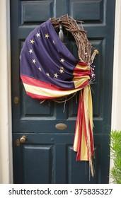 Historic American Flag on a door