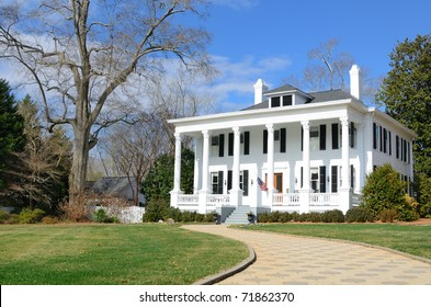 Historic Antebellum house in Madison, Georgia.