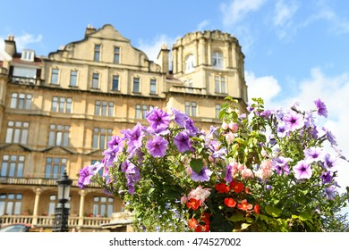 Historic architecture in Bath, England, UK on a sunny day