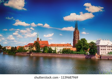 Historic architecture of the city of Wroclaw, Poland