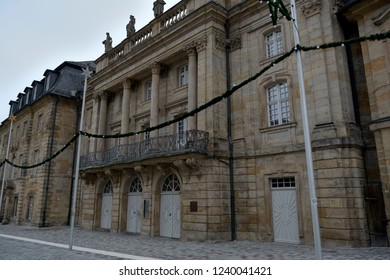 Historic architecture.The pedestrian area in Bayreuth Germany.