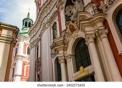 Historic baroque old Basilica Minor church in Poznan