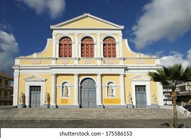 Historic Basilica of Pointe-a-Pitre, Guadeloupe, Caribbean