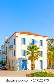 Historic beautiful building in Nafplio town in Greece