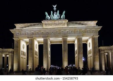Historic Brandenburg Gate in Berlin, Germany