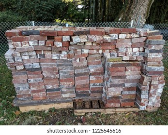 Historic Bricks Salvaged Stacked and Piled