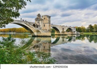 The historic bridge of Avignon-Provence-France
