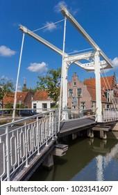 Historic bridge in the center of Edam, Holland